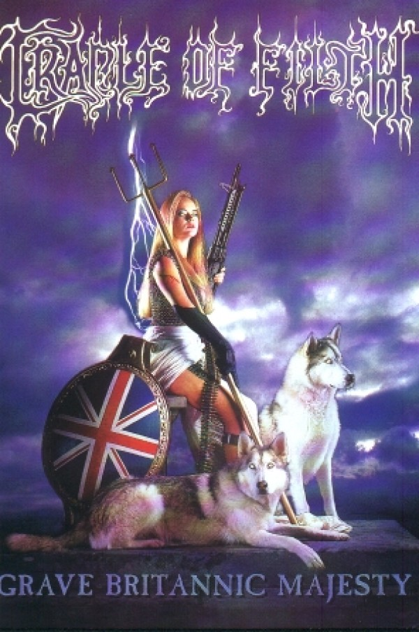 Cradle Of Filth Grave Britannic Majesty Poster