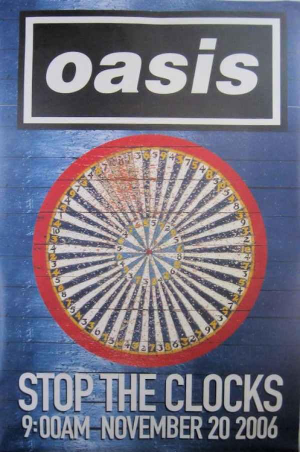 Oasis Stop The Clocks (Blue) Giant Promo Poster