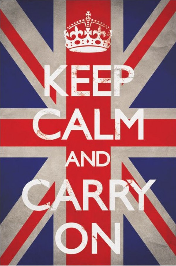 Keep Calm & Carry On (Union Jack) Poster