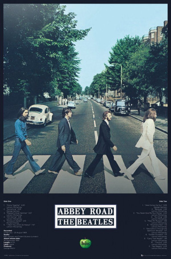 Beatles Abbey Road (Tracks) Poster