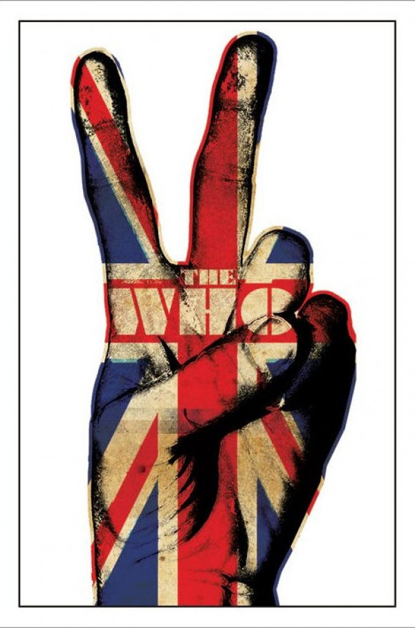 Who Union Jack Peace Poster