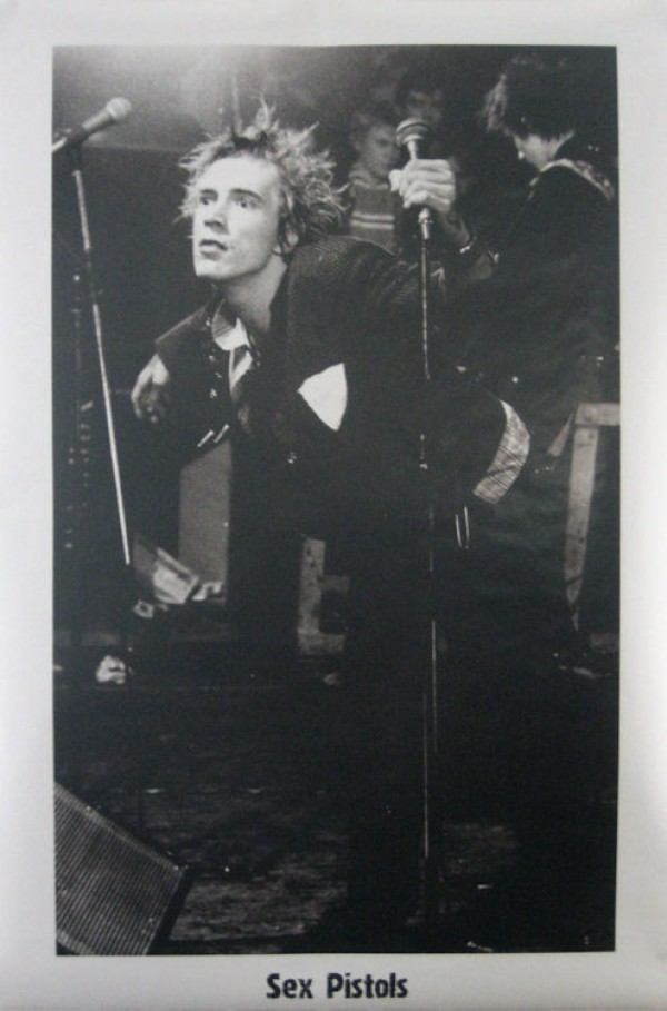 Sex Pistols Johnny Rotten Live Poster