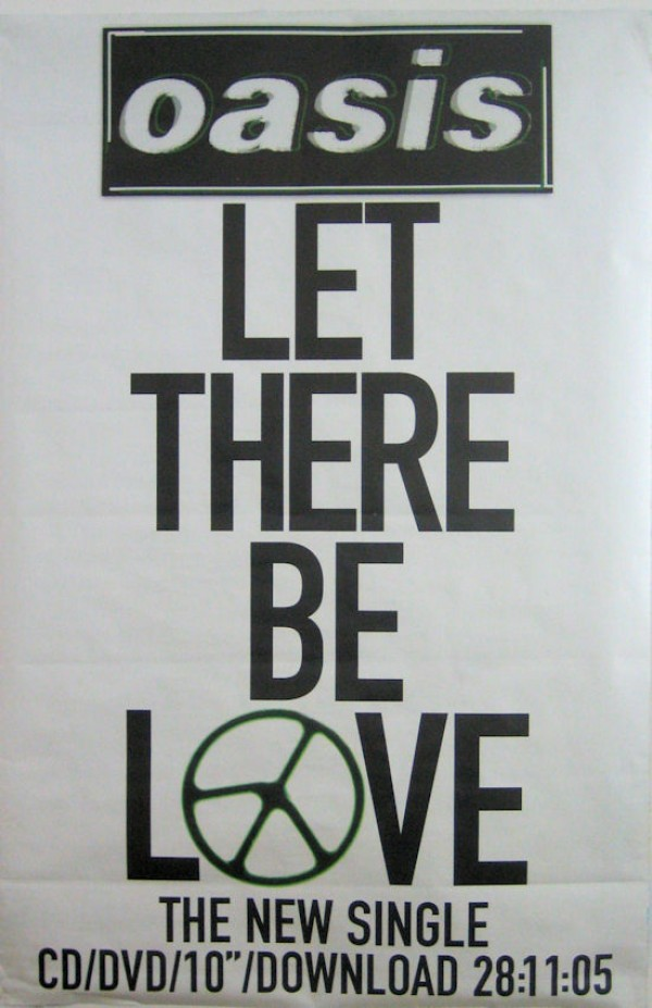 Oasis Let There Be Love Giant Poster