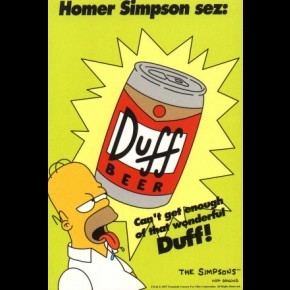 Simpsons Homer Duff Beer Poster