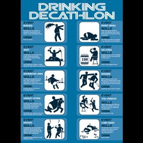 Drinking Decathalon Poster