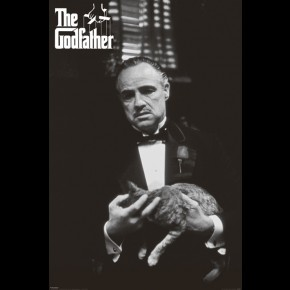 Godfather Cat Poster