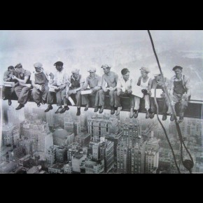 New York Lunch On Skyscraper Poster