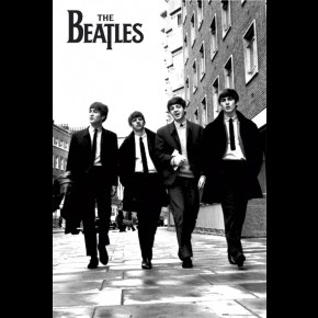 Beatles B/W London Poster