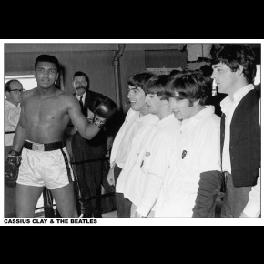 Muhammad Ali (Cassius Clay) & The Beatles Poster