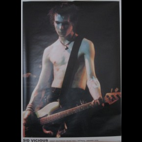 Sex Pistols Sid Vicious On Stage Poster