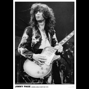 Led Zeppelin Jimmy Page Earls Court 1975