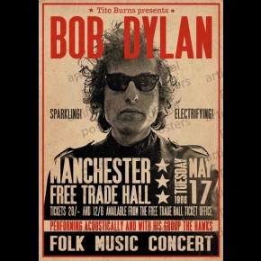 Bob Dylan (Manchester Free Trade Hall) Poster