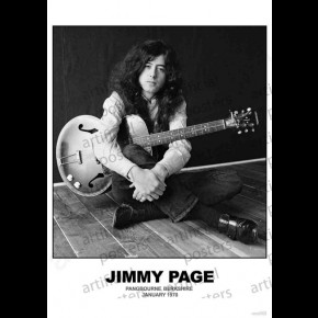 Led Zeppelin (Jimmy Page - Berkshire 1970) Poster