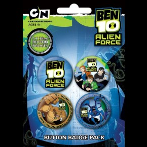 Ben 10 Alien Force (Characters) Badge Pack
