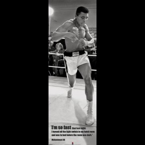 Muhammad Ali (So Fast) Door Poster