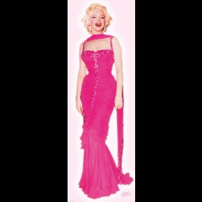 Marilyn Monroe Pink Dress Door Poster