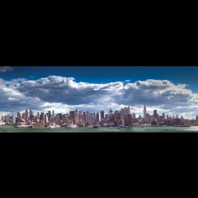 New York Skyline Door Poster