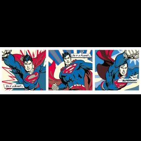 Superman (Pop Art) Panoramic Door Poster
