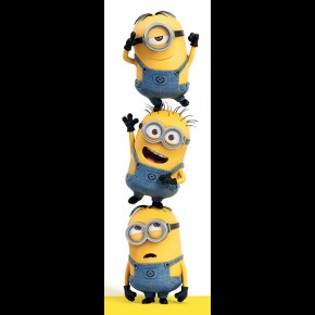 Despicable Me (3 Minions) Door Poster