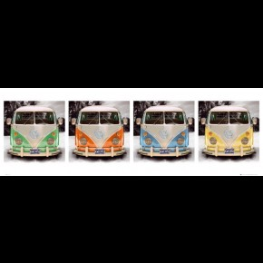 VW Camper (Beach Quad) Door Poster
