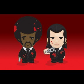 Pulp Fiction Weenicons Poster