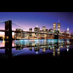 New York Brooklyn Bridge Colour Poster