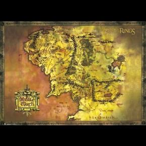 Lord Of The Rings Map Giant Poster