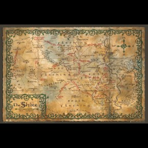 Hobbit Map Of The Shire Poster