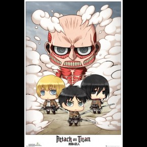 Attack On Titan (Chibi Group) Poster