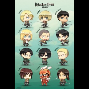 Attack On Titan (Chibi Characters) Poster