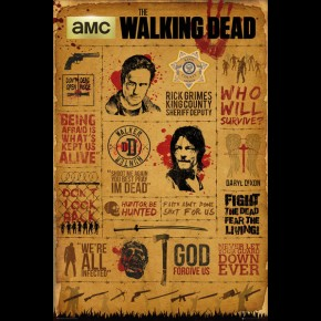 Walking Dead (Infographic) Poster