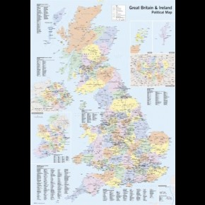 Great Britain & Ireland Political Map Poster