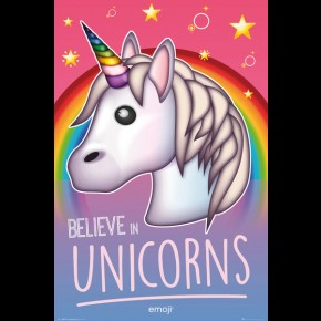 Unicorns (Believe Emoji)  Poster