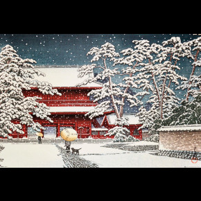 Kawase (Zojo Temple in the Snow) Poster