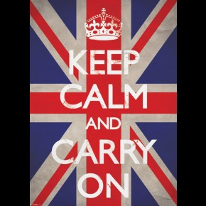 Keep Calm & Carry On (Union Jack) Giant Poster