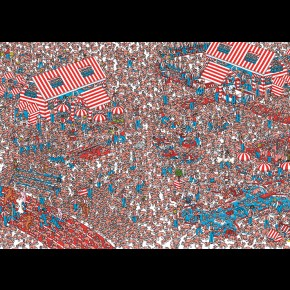 Where's Wally Land Of Woofs Giant Poster