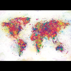 World Map (Colour Spash) Giant Poster