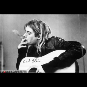Nirvana Kurt Cobain Smoking Poster