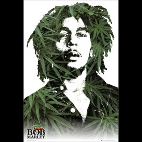 Bob Marley (Leaves) Poster