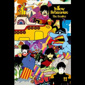 Beatles Yellow Submarine Characters Poster