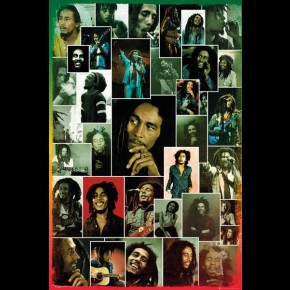 Bob Marley (Photo Collage) Poster