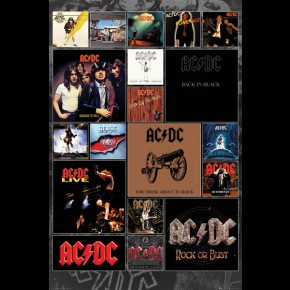 AC/DC (Covers Collage) Poster