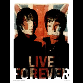 Oasis Live Forever Print