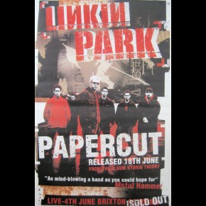 Linkin Park Papercut Giant Promo Poster