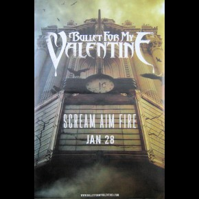 Bullet For My Valentine Scream Aim Fire Giant Promo Poster
