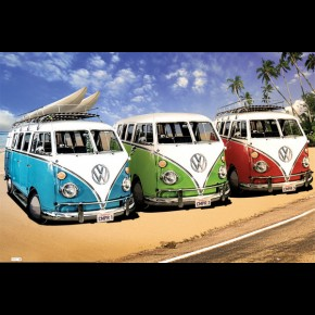 VW Californian Camper Van Beach Poster