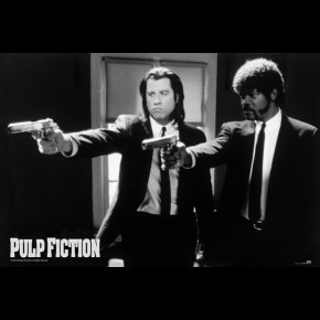 Pulp Fiction B/W Guns Poster