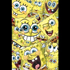 Spongebob Squarepants Faces Poster