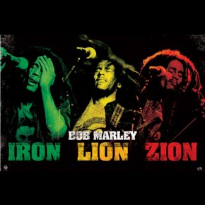 Bob Marley Iron Lion Zion Poster