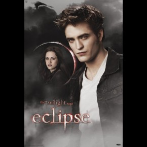 Twilight Eclipse poster featuring Robert Pattinson as Edward Cullen and Kristen Stewart as Bella Swan